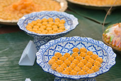 Traditional Thai Sweets Served for Tourists in Thailand Stock Image