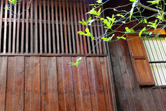 Traditional thai teak house details Royalty Free Stock Image