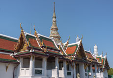 Traditional Thai Temple. With building and stupa Stock Photos