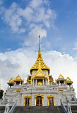 Traditional thai temple church. The temple church in the thai temple royalty free stock image