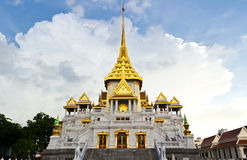 Traditional thai temple church. The temple church in the thai temple royalty free stock images