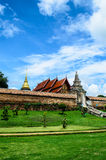Traditional Thai Temple. From outside the thai temple Stock Image