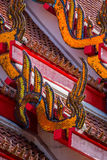 Traditional Thai temple roof details Stock Images