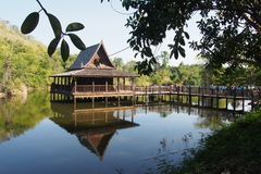 Traditional Thai timber temple Royalty Free Stock Photos