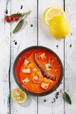 Traditional Thai Tom Yam Kung Soup Royalty Free Stock Photo