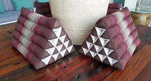 Traditional Thai triangle pillow Stock Photos