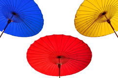 Traditional Thai umbrella. Isolated background Royalty Free Stock Photography