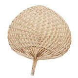 Traditional Thai vintage  fan isolated on white background,made Stock Photos