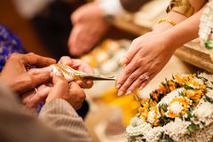 Traditional thai wedding ceremony Stock Images