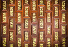 Traditional  thai wooden  carving wall Stock Photo