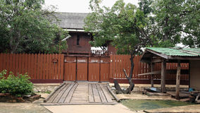 Traditional thai wooden house Stock Photo