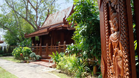 Traditional Thai  wooden house Royalty Free Stock Image