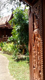 Traditional Thai  wooden house Stock Photos