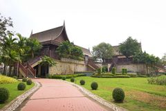 Traditional Thai wooden house. Thai style Royalty Free Stock Photo