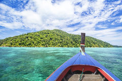 Traditional Thai wooden longtail boat in Andaman sea Stock Image