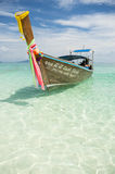 Traditional Thai Wooden Longtail Boat Bamboo Island Krabi Thailand Royalty Free Stock Photography