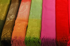 Traditional thai woven cotton fabric Stock Image