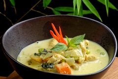Traditional thai yellow curry Stock Photo
