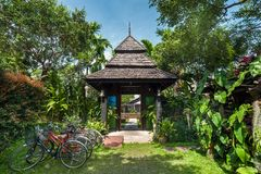 Traditional thail resort and nature travel destinations Stock Photo