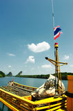 Traditional Thailand boat at Phi Phi islands Royalty Free Stock Photos