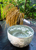 Traditional thailand perfume water mixes. With flowers Royalty Free Stock Photos