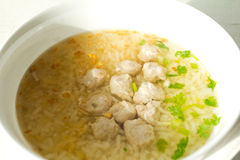 Traditional Thailand porridge rice gruel in bowl Royalty Free Stock Photo