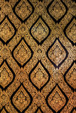 Traditional Thailand style art painting pattern of god on black and gold colour Stock Images