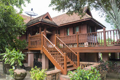 Traditional thailand wooden house Royalty Free Stock Photos