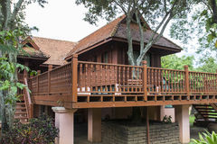 Traditional thailand wooden house Stock Image