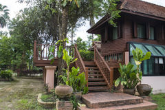 Traditional thailand wooden house Stock Photography