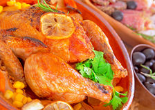 Traditional Thanksgiving dinner Royalty Free Stock Photos