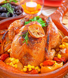 Traditional Thanksgiving dinner Royalty Free Stock Images