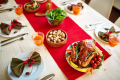 Traditional Thanksgiving food Stock Images