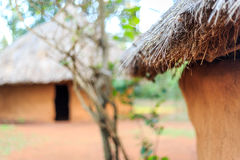 Traditional thatch roof in african village royalty free stock images