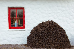 Traditional thatched cottage. Kerry. Ireland Stock Photo