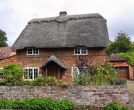 Thatched English Village Cottage Stock Image