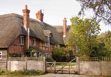 Traditional Thatched English Village House Royalty Free Stock Image