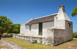 Traditional thatched roof fisherman's cottage at Cape Agulhas So Royalty Free Stock Photography