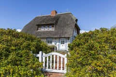 Traditional thatched roofed house in Germany Royalty Free Stock Photography