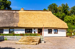 Traditional thatching roof house in Vitt Royalty Free Stock Photography