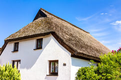 Traditional thatching roof house in Vitt Royalty Free Stock Photos