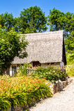 Traditional thatching roof house in Vitt Royalty Free Stock Images