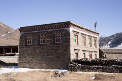 Traditional Tibetan house. Tagong, Sichuan, China Stock Photo