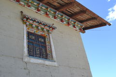 Traditional Tibetan House - Deqin County - Yunnan Province China Royalty Free Stock Photography
