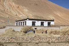 Traditional tibetan house Royalty Free Stock Photo