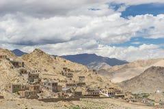 Traditional Tibetan house style, Leh, Ladakh Stock Photography