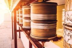 Traditional tibetan Prayer wheel Stock Photography