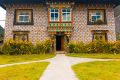 Traditional Tibetan Stone Brick House Tibet Royalty Free Stock Photo