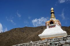 Traditional Tibetan stupa in Everest region ,Nepal,Asia Royalty Free Stock Photos