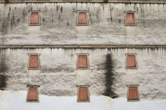 Traditional tibetan style window Royalty Free Stock Photos